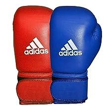 adidas AIBA Boxing Gloves, Guantoni da Boxe Unisex-Adulto, Blu, 10 oz