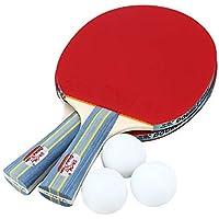 Erduo Doble PESCADURA Outdoor Indoor Sports Raquetas de Tenis de Mesa con Pelotas de Ping-Pong Portable Durable Ping-Pong Paddle Set