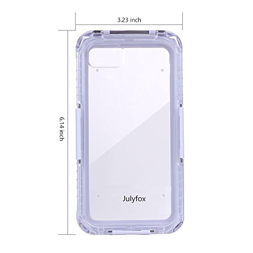 Julyfox IPX8 Professional Waterproof Case For iPhone 7 Plus(5.5 inch) Scratchproof Touch Compatible(Blue) White