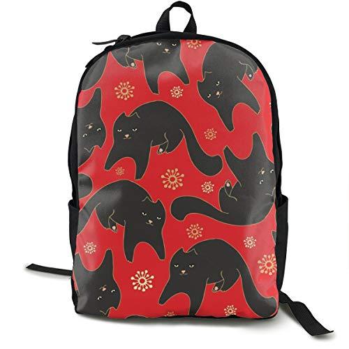 Black Cat On Red Carpet Adult Premium Travel Backpack, Water-Resistant College School Bookbag, Sport Daypack, Outdoor Rucksack, Laptop Bag for Men&Women - College Womens Tank Top