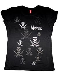 Misfits - Girl Shirt Pirate Pattern (in L)