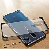 one Plus 7 Pro Cover Mobistyle Ultra Thin Shockproof Frameless Matte Transparent with Ring Buckle Back Cover Case for one Plus 7 Pro/oneplus 7 pro (Ring Black)
