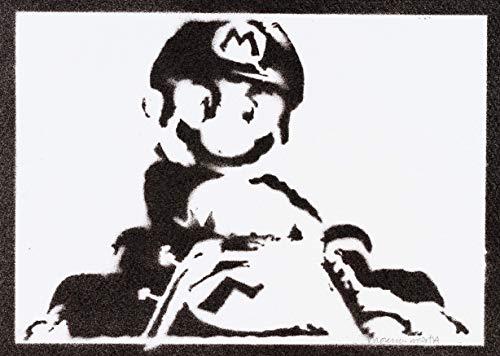 Poster Super Mario Handmade Graffiti Street Art - Artwork