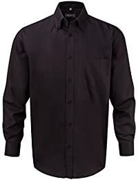 Z956 Bügelfreies langärmeliges Herrenhemd