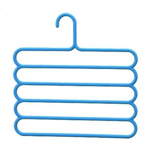 BestYT Schlafzimmer Multifunktional Hose Aufhänger, Mehrschichtige Fold Kleidung Rutschfest Rack