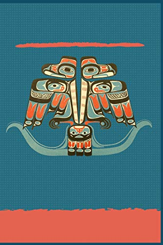 Thunderbird Haida Tribe Art Notebook | Native American Journal: Lined 120 Pages 6 x 9 -