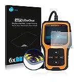Savvies Protector de Pantalla Compatible con Garmin Dash CAM 56 [6 Unidades] - Transparente