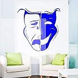 cmdyz Arte Comedia Tragedia Emoción Actor Teatro Máscara Vinilo Etiqueta de la pared Diseño de...