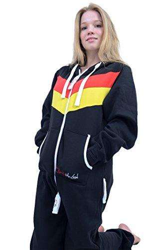 The Classic Unisex Onesie in Black and Red Yellow Stripes - L - 2