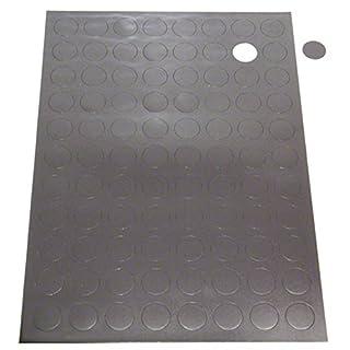 50 Self adhesive magnetic rubber disk / dots, 12.5mm diameter, Circular, Fridge, Strong, Craft Disc