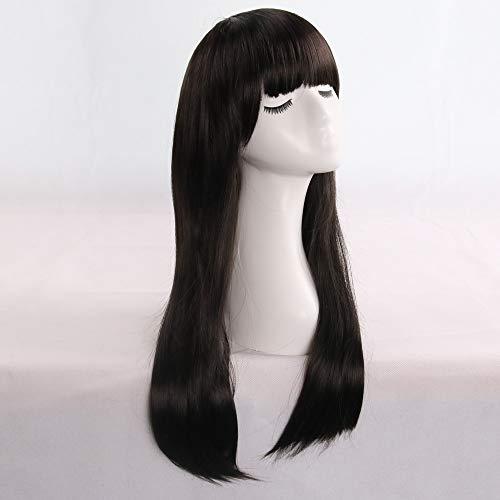 Malloom Damen Damen lange Perücke Kostüm Cosplay Perücken Pop Party Kostüm, neue Ankunft erstaunliche lange gerade schwarze Perücke bekommt Sie Eyecatching 100% ()