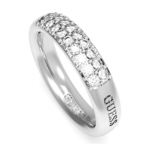 Guess Damen Ringe aus Edelstahl mit Zirkonia Ringgröße 54 (17.2)