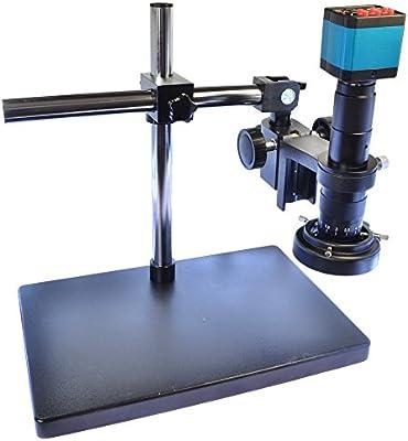 14MP HDMI HD USB vídeo de la industria Digital microscopio cámara Set & Big Boom Soporte Universal soporte de & 180x C-Mount Lens & 60LED luz