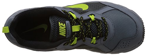 Nike Men's Wild Trail Bl Grpht/Chrtrs/Clssc Chrchl/Bl Running Shoe 10 Men US Blue Graphite/Charcoal/Black/Chartreuse