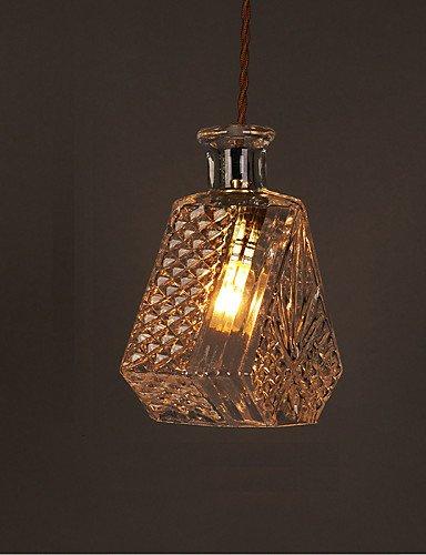 swent moderna Fácil/Retro/LED de techo Leuchten E27220V 20* 18cm 10–15M². Roman mesa Botella creativo de cristal tallados–Lámpara LED, Blanco cálido
