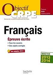 Objectif CRPE Épreuve écrite de français