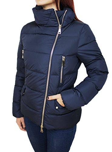 Piumino donna moncler original modello talia blu giacca giubbotto piuma d'oca taglia 2 (44-46) (2 (44-46))