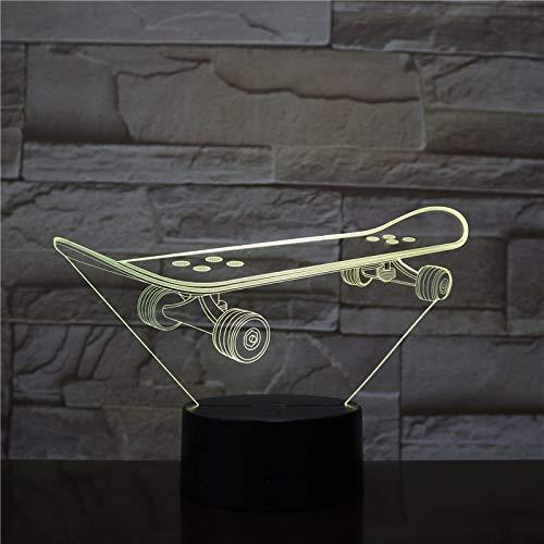 Skateboard Luci notturne Camera da letto romantica Lampade da scrivania Amanti Coppia Regali Luci per dormire per bamb