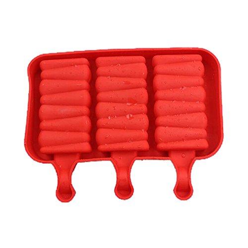 joyliveCY Eis Silikon Bar Form, Silikon/Kautschuk, rot, Helical (Maker Cream Oval Ice)