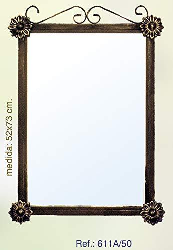 Rustiluz Espejo de forja para baño 611a