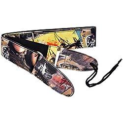 SUPVOX Sangle de Guitare Réglable en Nylon pour Guitare Acoustique Basse Instrument de Musique Accessoires (Femme Photo Coloré)