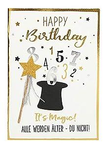 Depesche 3003.040Tarjeta de felicitación con Ornamento, cumpleaños