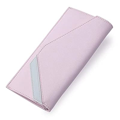 ZLR Mme portefeuille Porte-monnaie en cuir pleine longueur pour dames Wallet