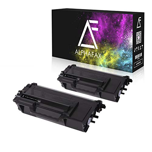 2 Alphafax Toner kompatibel für Brother TN-3480 für HL-L5000 D DCP-L6600 MFC-L5700 - Schwarz je 8.000 Seiten -