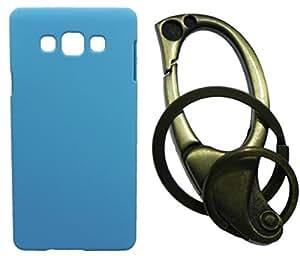 XUWAP Hard Case Cover With Matallic KeyChain For Samsung Galaxy J7 - Skyblue