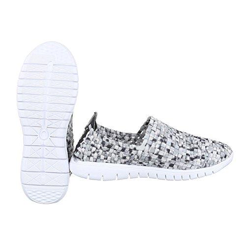 Ital-Design - Pantofole Donna Grau DSC002-9