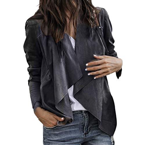 (Damen Pullover Sexy Dasongff Strickjacke Herbst Poncho Langarm Asymmetrisch Elegant Locker Oversive Kimono Cardigan Mantel Langärmel Jacke)