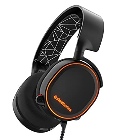 SteelSeries Arctis 5, Gaming Headset, DTS 7.1 Surround, RGB Illumination, (PC / Mac / Playstation / Xbox / Mobile / VR) - Black