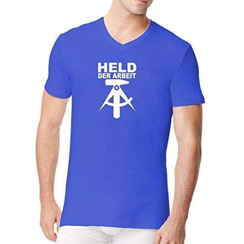 DDR Ossi Männer V-Neck Shirt - Held der Arbeit by Im-Shirt Royal