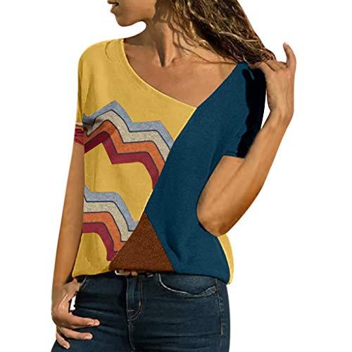 Damen V-Ausschnitt Henley T-Shirts Langarm Geripp Knopf Basic Oberteile Tee