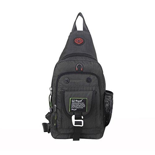 Sling Bag Brust Schulter Rucksack One Strap Daypack Crossbody Wandern Taschen Fahrrad Rucksack Schule Handtasche Männer Frauen (Fahrrad-handtasche)