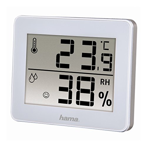 Hama th-130 - Wetterstation (Monochrom, CR2025, weiß) -