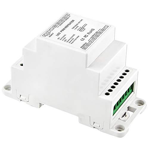 CUHAWUDBA LED Power Repeater DIN Rail Dc5V 12 V 24 V Ingresso LED DMX Amplificatore 4Ch Uscita Amplificatore di Segnale Ripetitore di Potenza Bc-964-Din