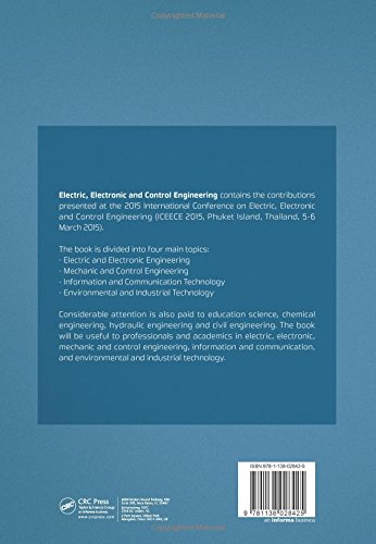 Electric, Electronic and Control Engineering: Proceedings of the 2015 International Conference on Electric, Electronic and Control Engineering (ICEECE 2015), Phuket Island, Thailand, 5-6 March 2015