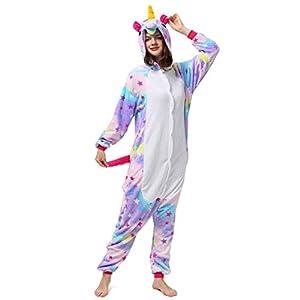 Katara- Kigurumi (10+ Modelos) Pijamas Animales Halloween Adultos, Color Unicornio Morado-Blanco, Talla 175-185cm (1744)