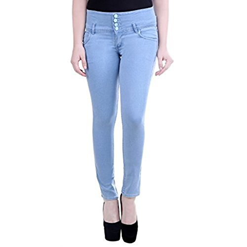 FNocks Casual Ankle Length Slim Fit Women Jeans (ICE BLUE & GREY) 28 30 32 34 36 (Light Blue, 26)  available at amazon for Rs.679