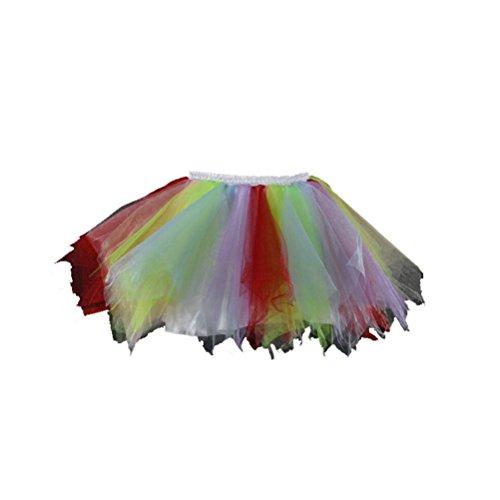 s Mini Ballet Petticoat Abschlussball Tanzabend Tutu Rock Hellgrün Lavendel und Rot (Tanzabend Ballett Kostüme)
