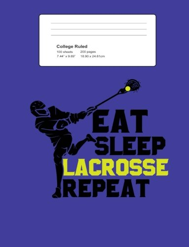 Eat Sleep Lacrosse Repeat College Ruled Composition Book