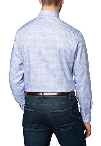 Eterna Long Sleeve Shirt Modern Fit Oxford Checked Blu/Verde