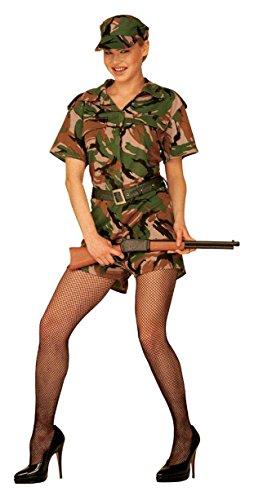 Imagen de army  disfraz de soldado militar para mujer, talla 42  44 w4423 l