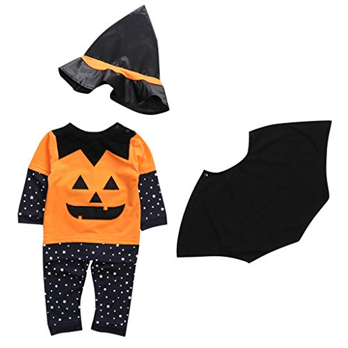 Writtian Neugeborenes Kleinkind Jumpsuit Kinder Halloween Kostüm Kürbis Motiv Baby Overalls Jungen Mädchen Neugeborenes Strampler Toddler Halloween Langarm Bodysuit - Günstige Aufblasbare Kostüm