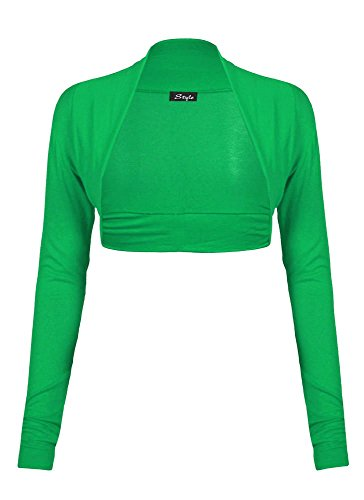 Fast Fashion - Cardigan Haut Manches Longues Plaine De Taille Plus Boléro Haussement - Femmes Vert