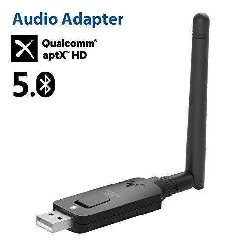 Avantree DG60 aptX-HD Lange Reichweite 50M USB Bluetooth 5.0 Audio Transmitter Adapter für PC PS4 Mac Laptop, aptX Low Latency kabelloser Dongle für Kopfhörer, Übertragung auf mehrere Lautsprecher