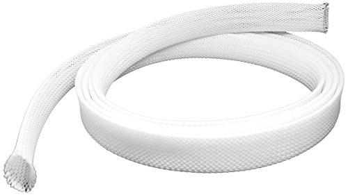 conecto CC50325 Universeller Polyester-Kabelschlauch, selbst zusammenziehend, Ø 20mm, 1,80m, weiß