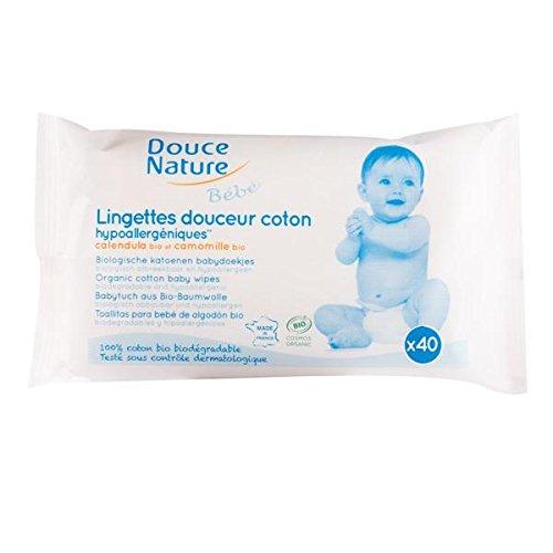 Douce Nature - Lingettes bébé biodégradables (x40)