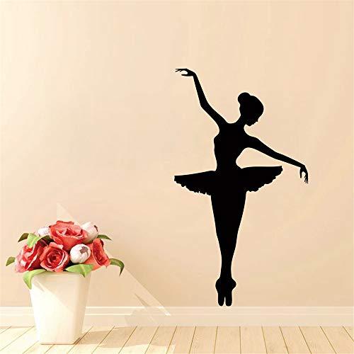 Ballerina Wall Decal - Tänzer tanzen Ballett Vinyl Wall Decal Grafik Aufkleber 100 * 56cm (Eingetragen Cash)